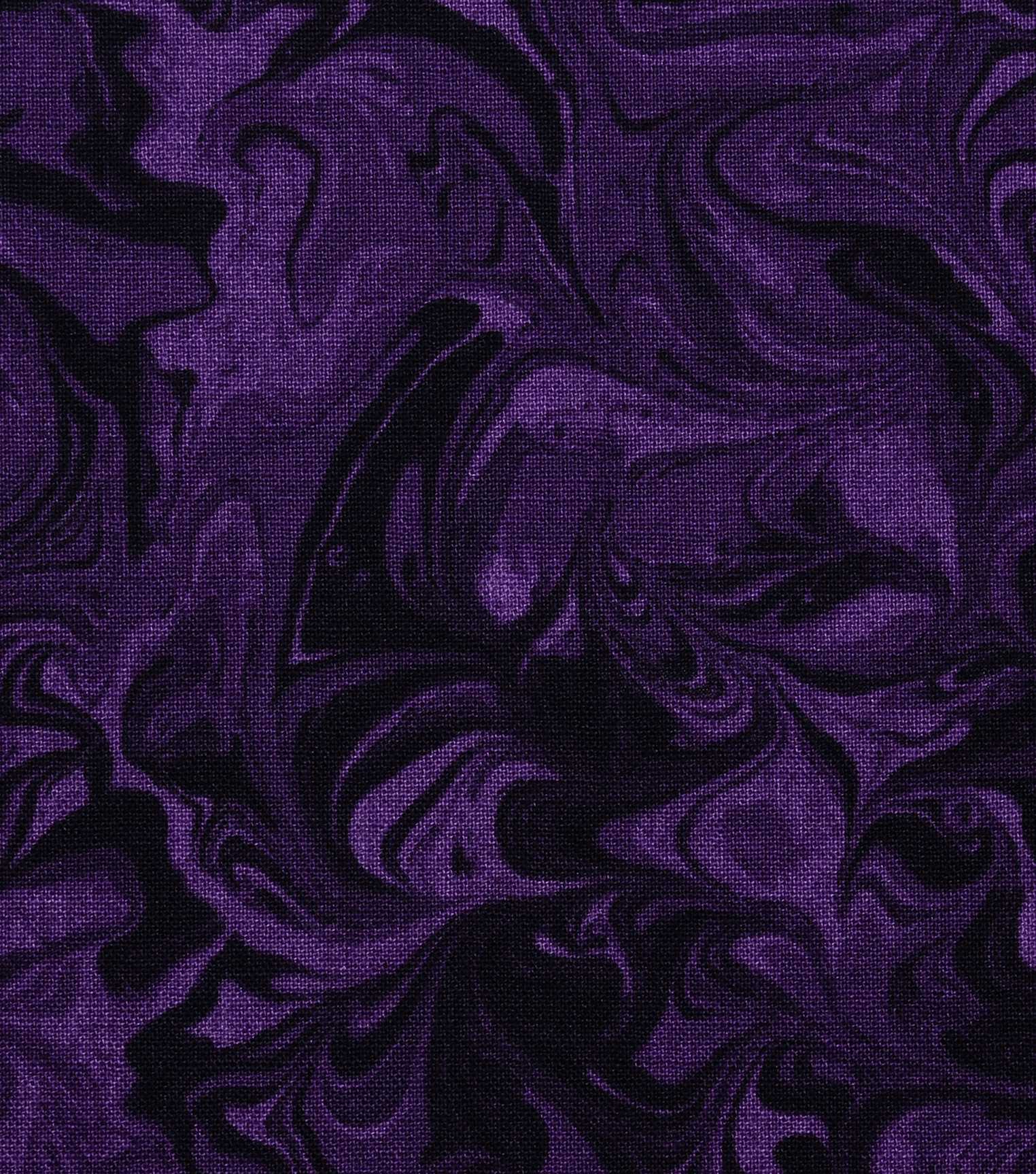 Keepsake Calico Cotton Fabric-Dark Purple Oil Slick