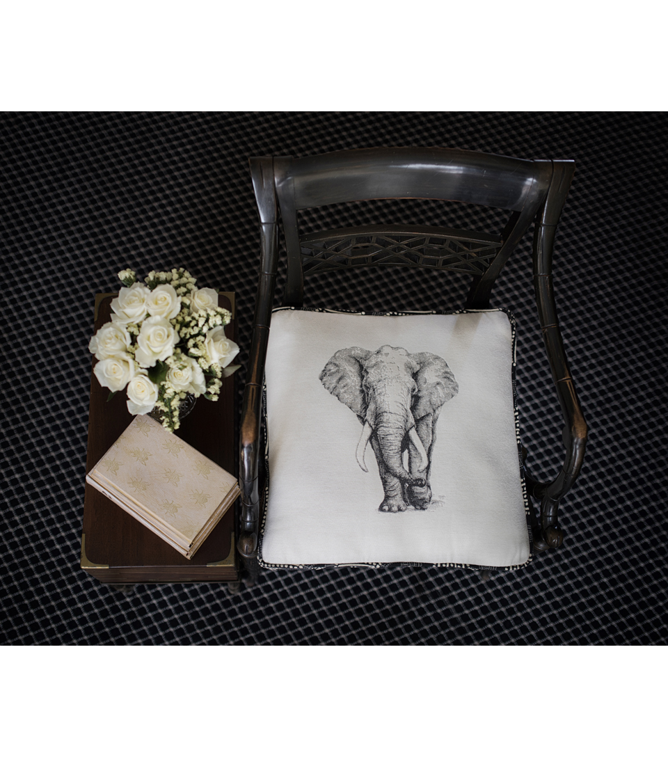 Square By Design-Elephant 25\u0022 Woven Square