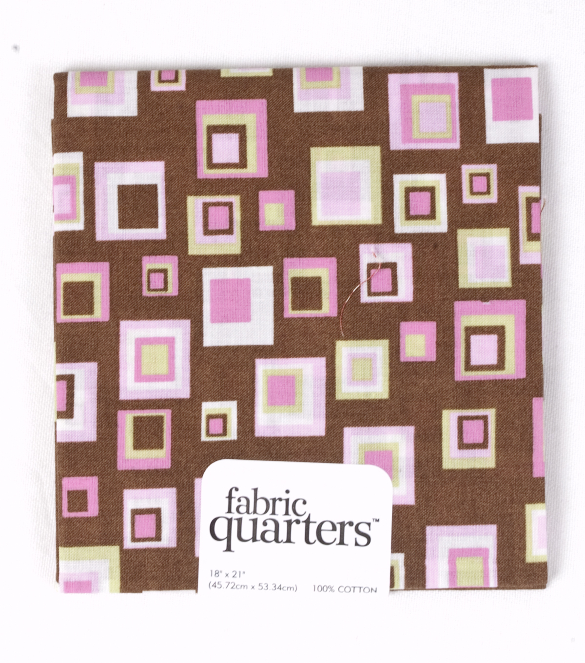 Fabric Quarters Cotton Fabric 18\u0022-Brown