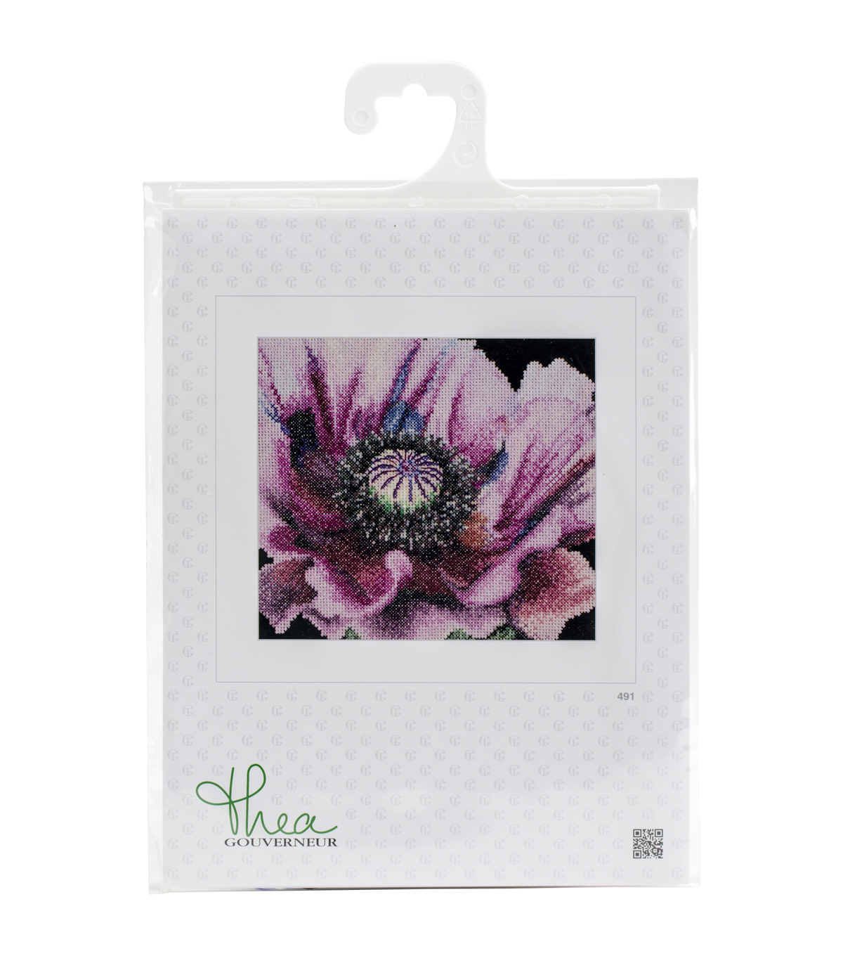 Thea Gouverneur Poppy On Aida Counted Cross Stitch Kit