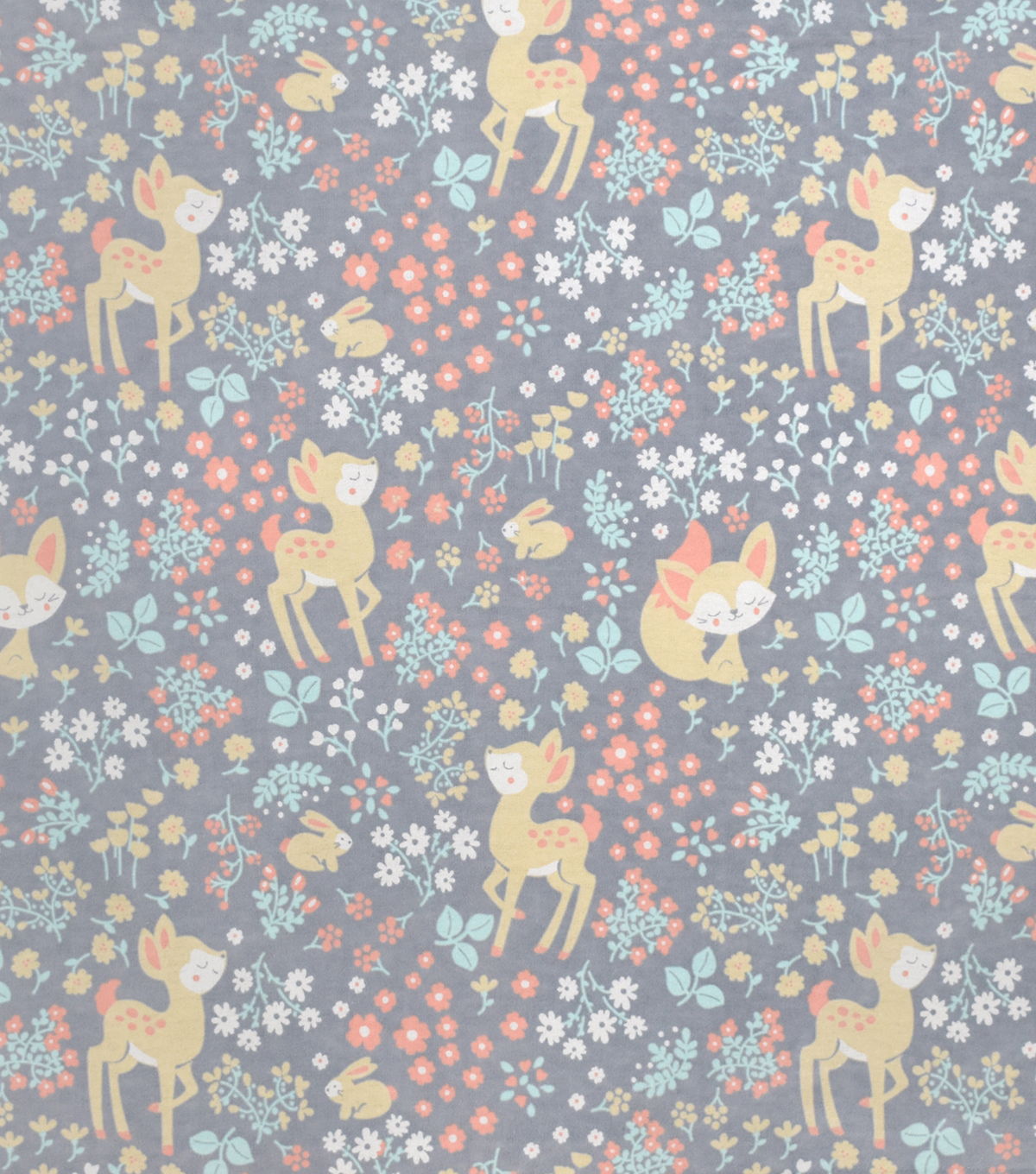 Snuggle Flannel Fabric-Baby Doe Floral