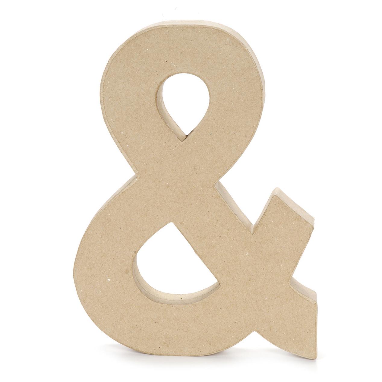 Paper Mache Letter Ampersand Symbol 12 X 15 Inch Joann
