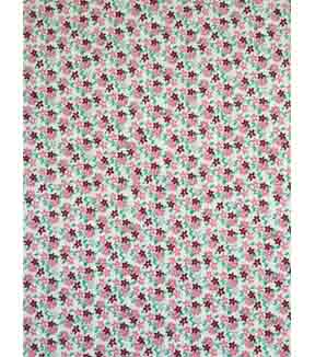 Doodles Juvenile Apparel Fabric 57\u0027\u0027-Pink Ditsy Flowers Interlock