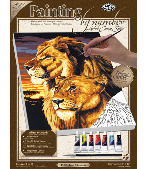 Royal Langnickel Paint By Number Kits Lion & Lioness