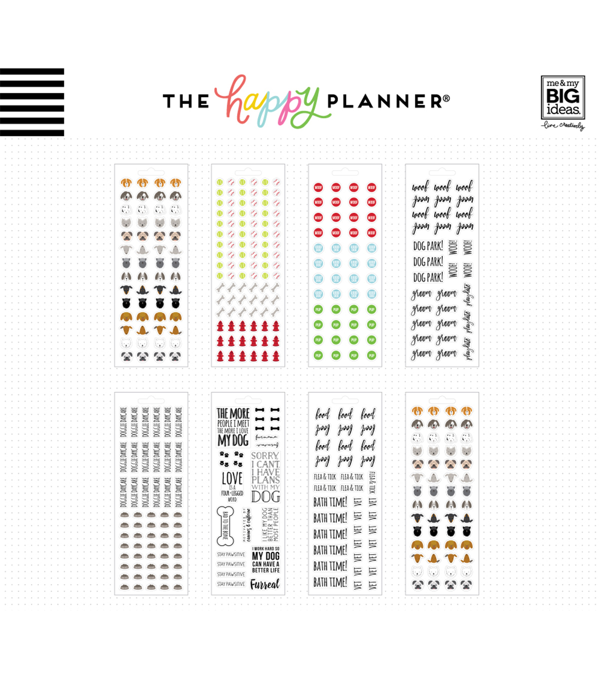 The Happy Planner Stickers-Bad To The Bone