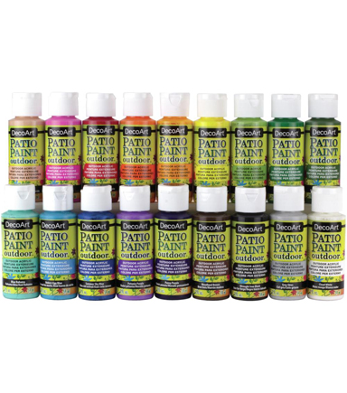 Patio Paint Sampler 18/Pkg-Fan Favorites