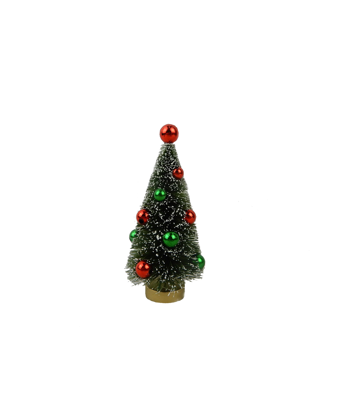 Maker\u0027s Holiday Christmas 4\u0027\u0027 Tree with Ornaments-Red & Green