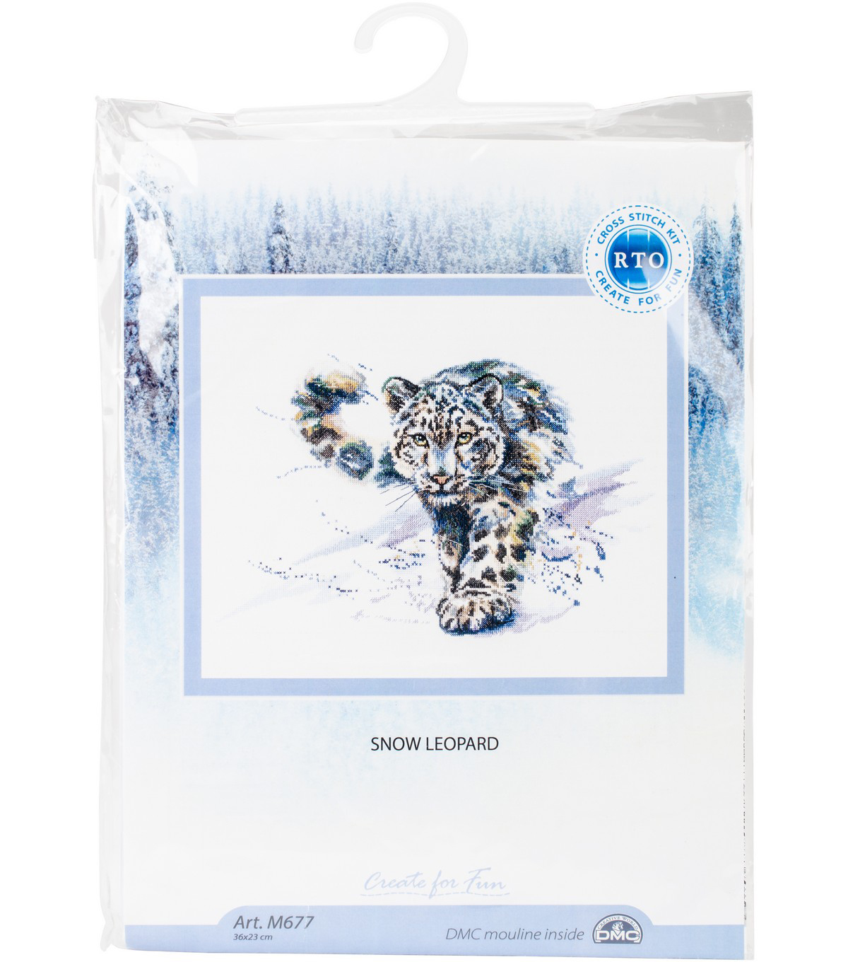RTO 14.17\u0027\u0027x9.05\u0027\u0027 Counted Cross Stitch Kit-Snow Leopard