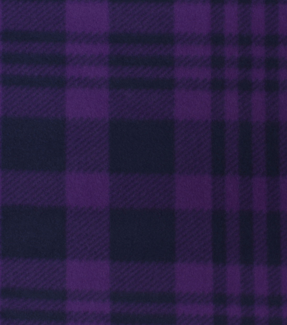 Blizzard Fleece Fabric-Luke Purple & Blue Plaid