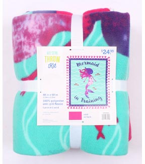 No Sew Fleece Throw 48\u0022-Mermaid In Training