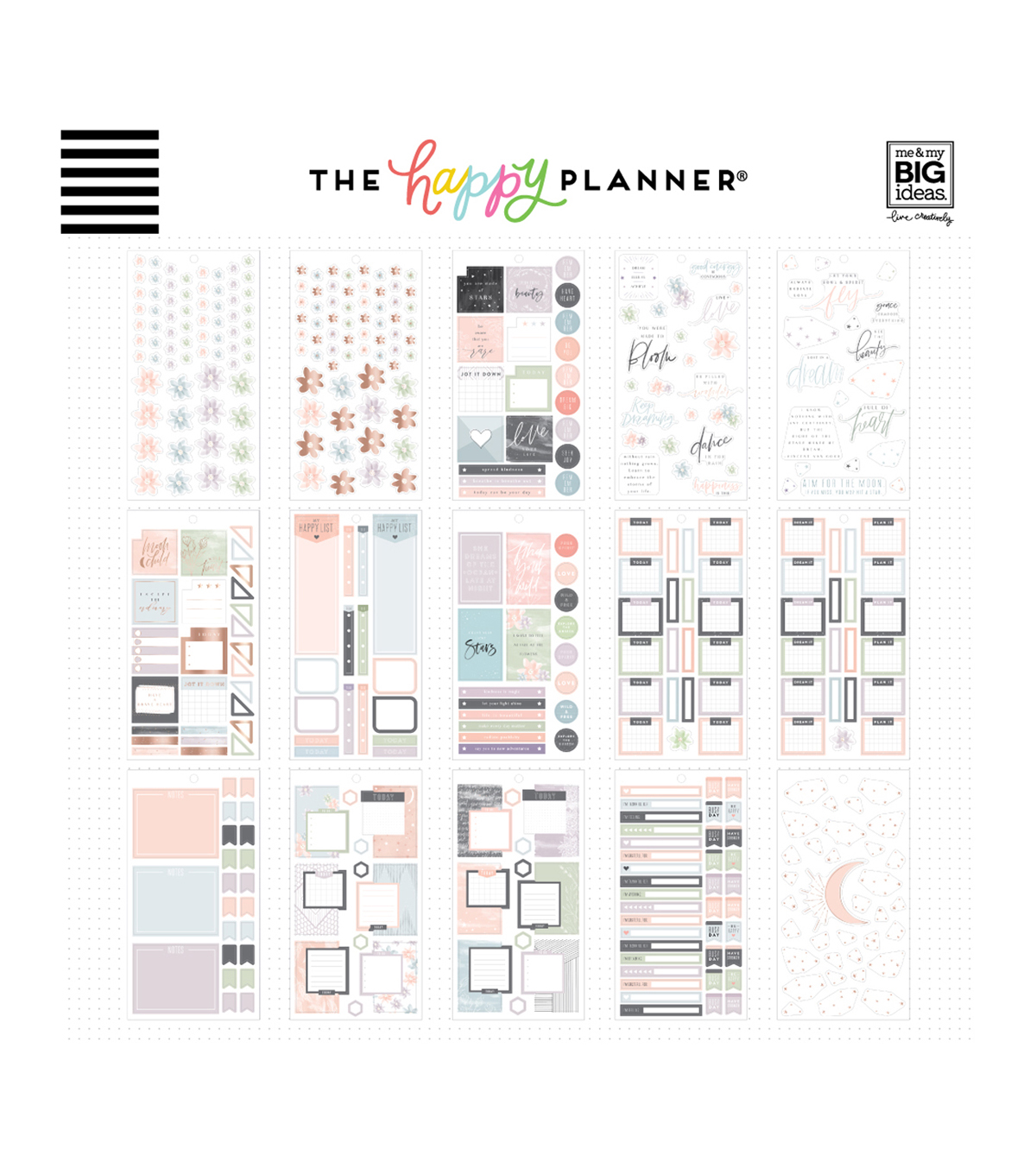 The Happy Planner 813 pk Stickers-Free Spirit