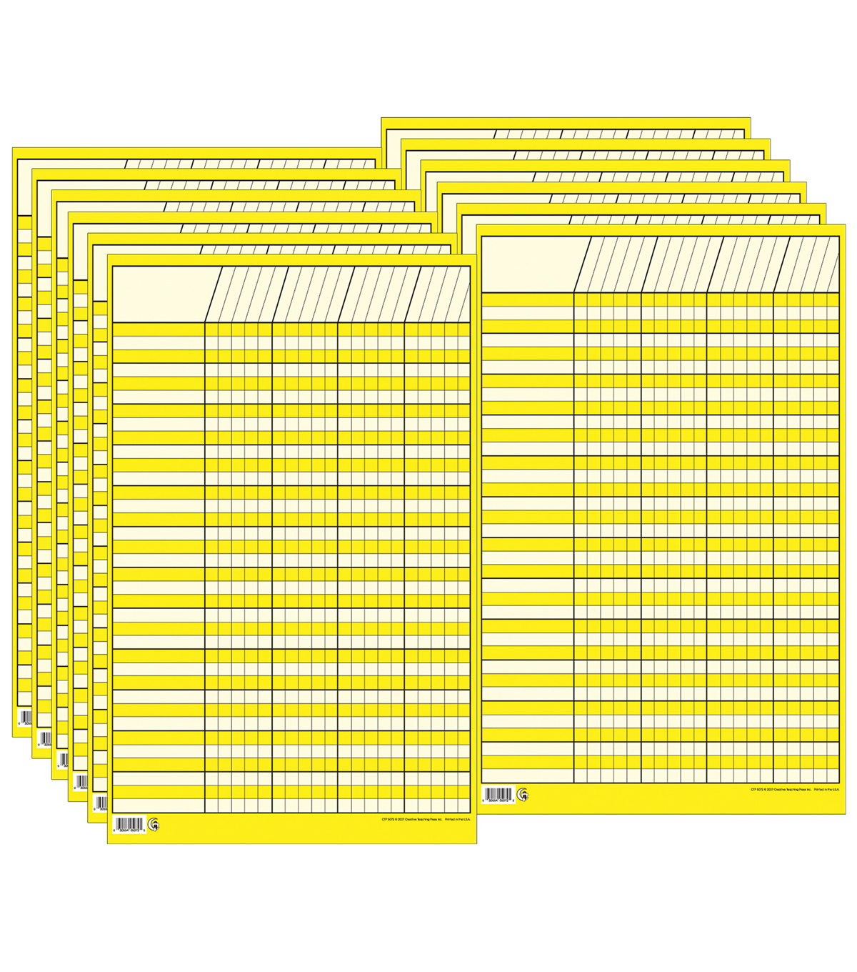 Yellow Small Vertical Incentive Chart, Pack of 12