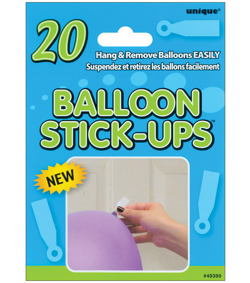 Unique Balloon Stick Ups-20PK