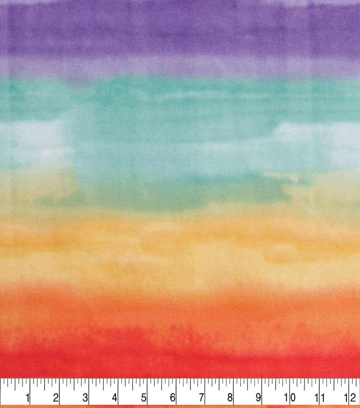 Anti-Pill Plush Fleece Fabric-Rainbow Watercolor Tie Dye