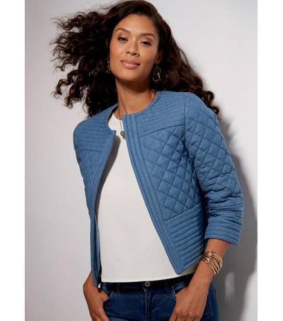 McCall\u0027s Pattern M7549 Misses\u0027 Banded Jackets with Yokes