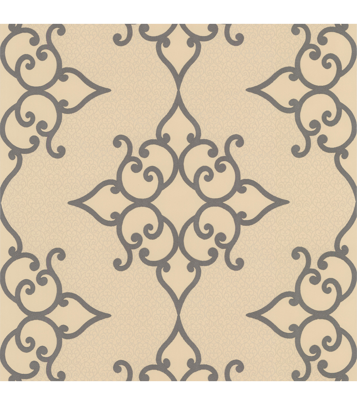 Sebastian Gold Crepe Moroccan Medallion Wallpaper