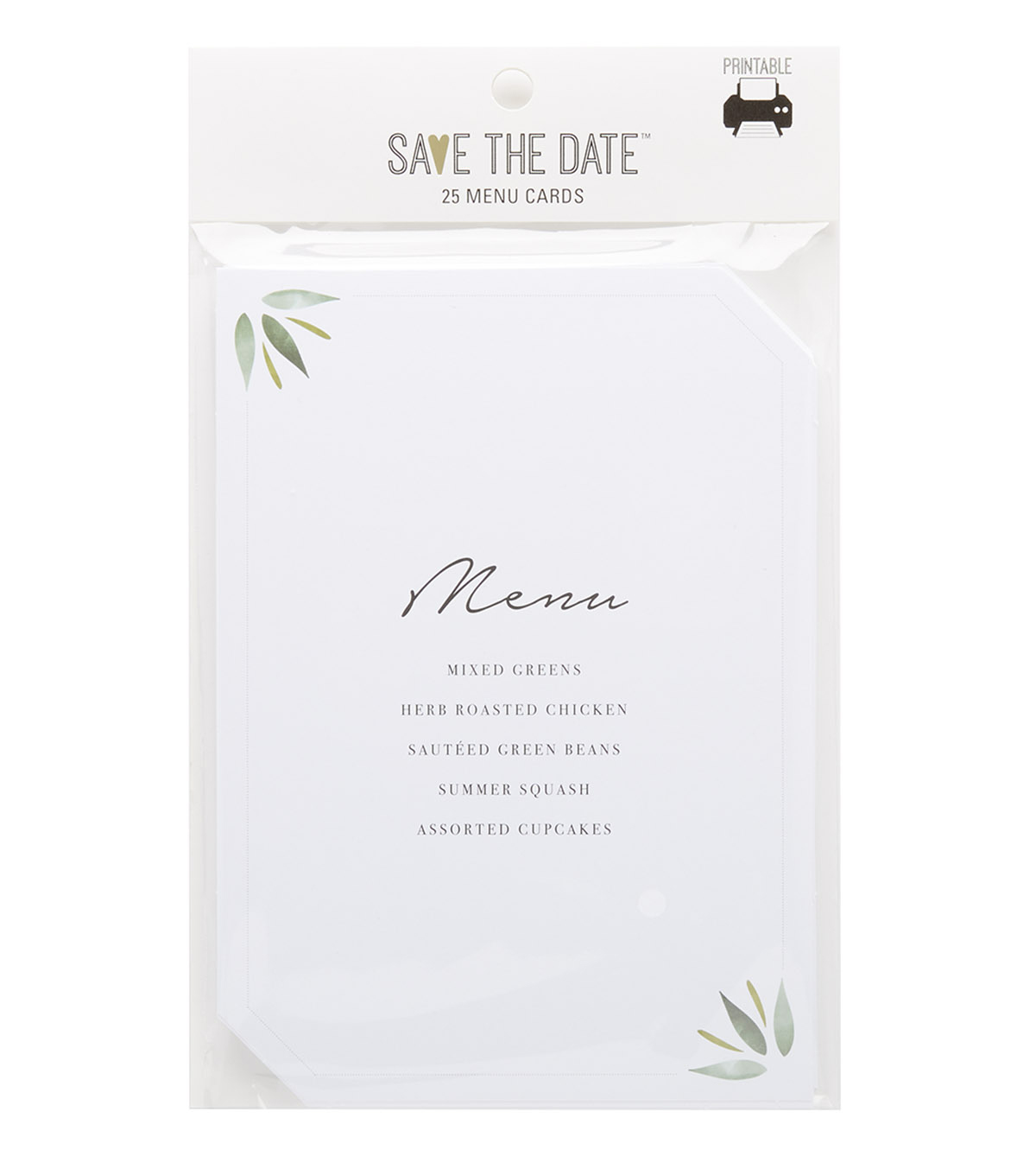 Greenery Menu Cards 25ct