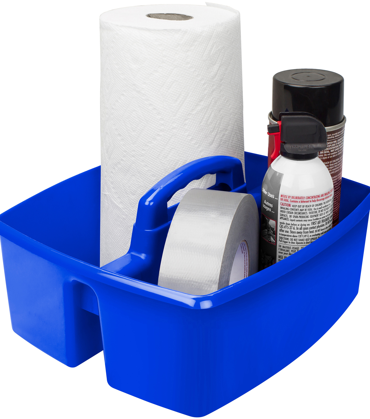 Storex Large 2-compartment Caddy-Blue