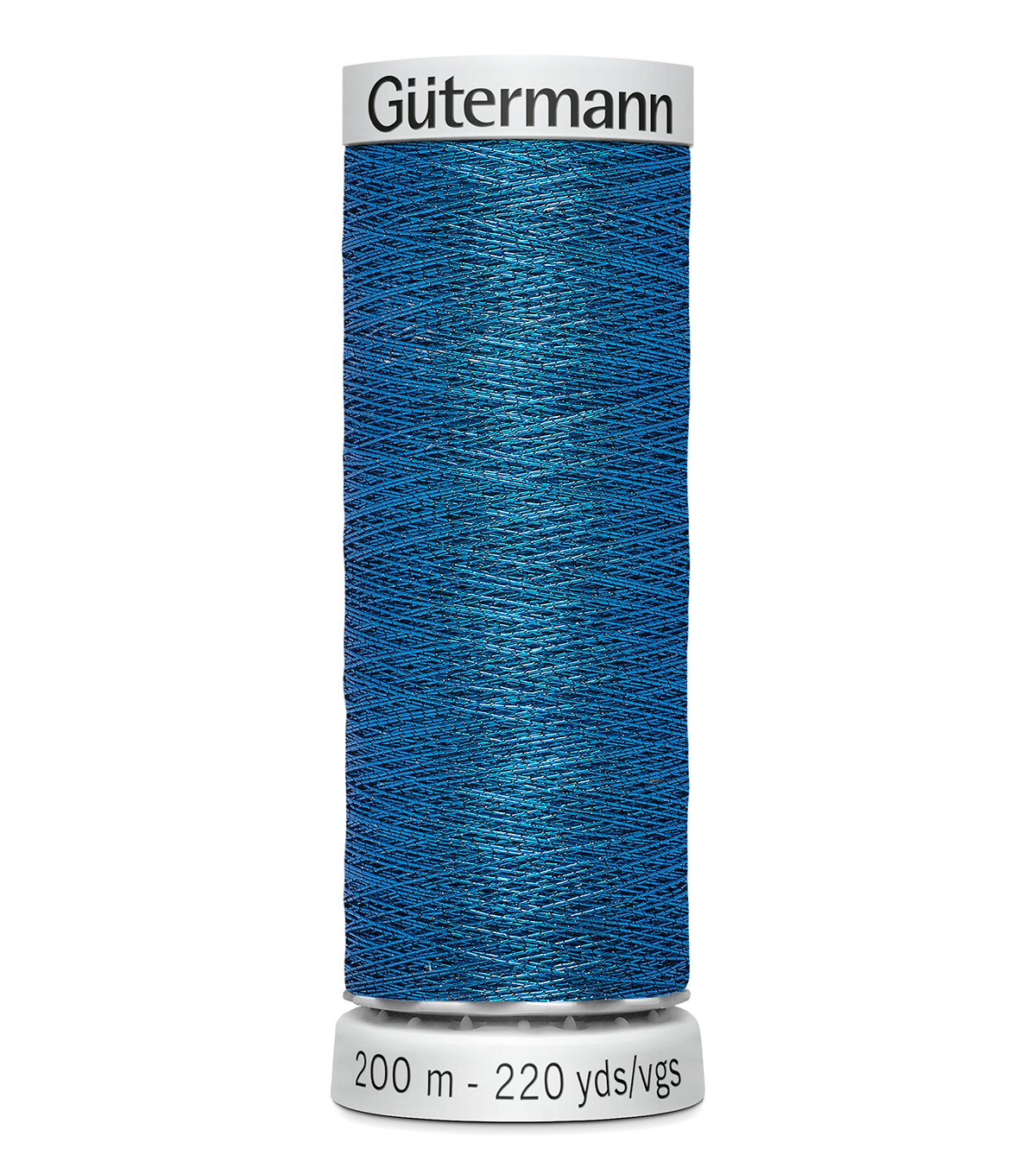 Gutermann 200M Dekor Thread, 200m Dekor Metallic-true Blue