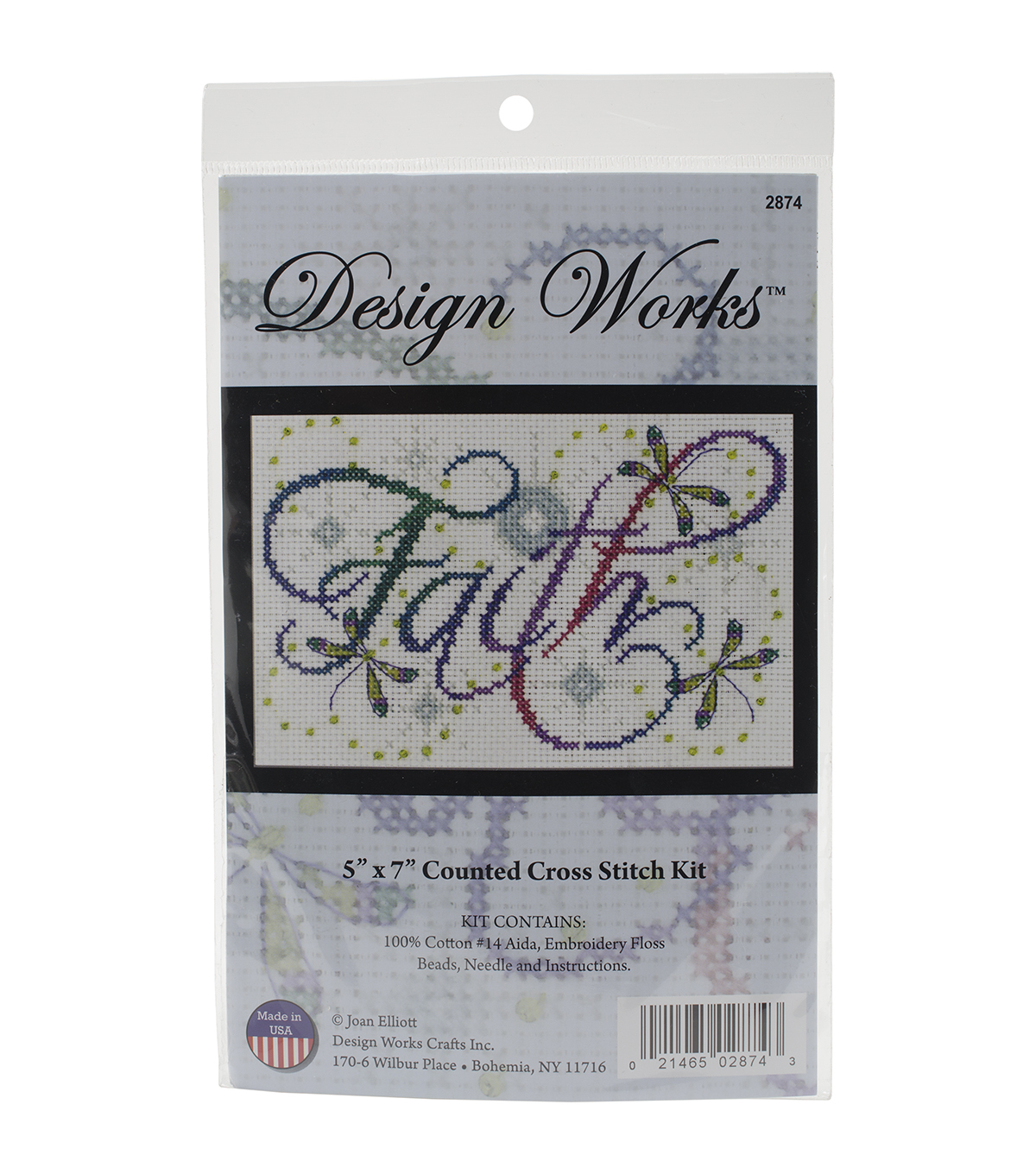 Design Works Faith Counted Cross Stitch Kit
