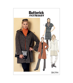 Butterick Pattern B6394 Misses\u0027 Shawl Collar Coats-Size 16-26