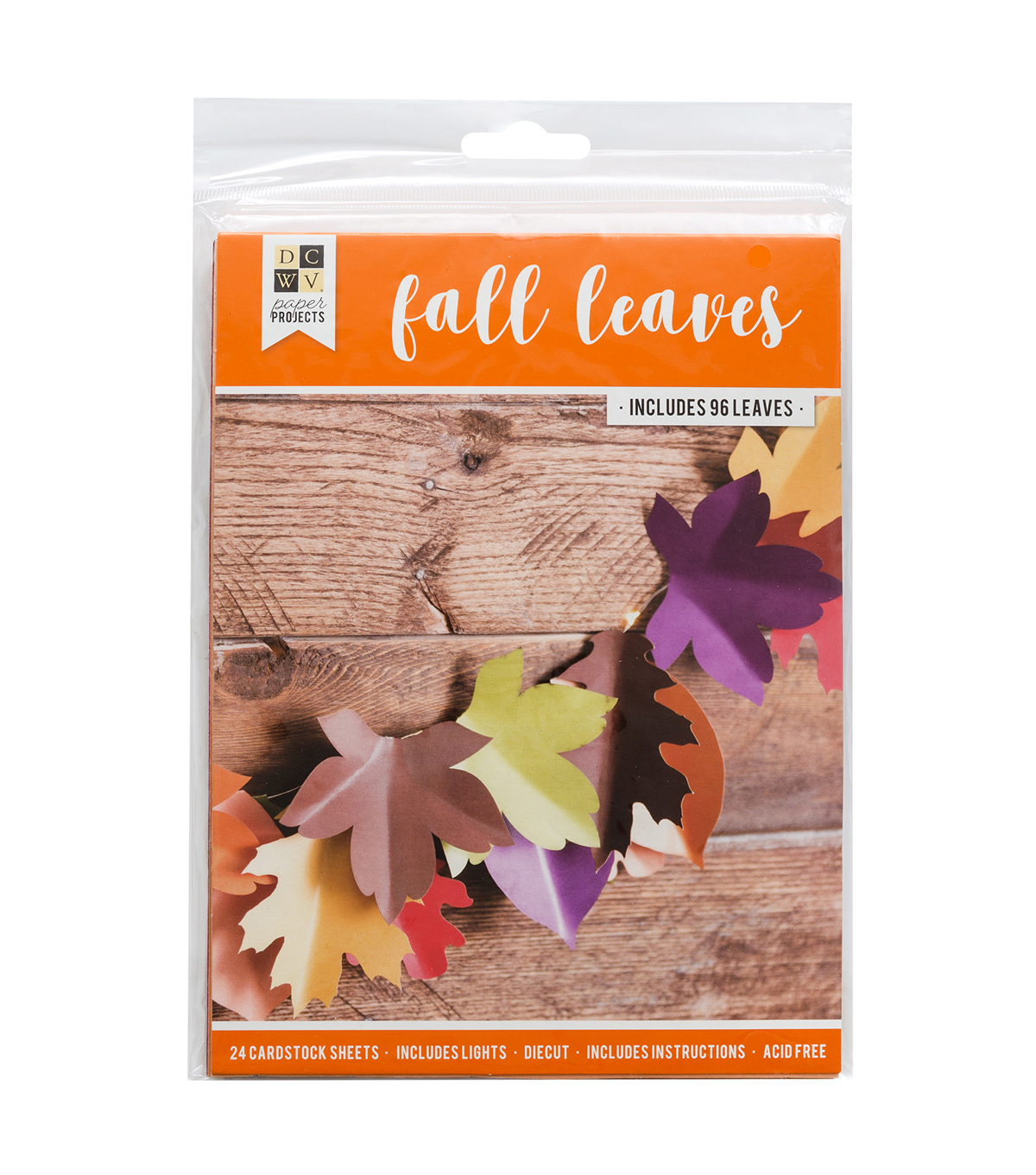 DCWV Halloween Paper Projects-Fall Leaves Garland