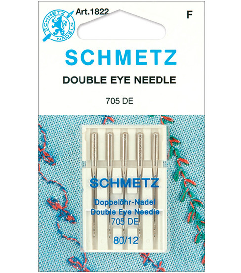 Schmetz Double Eye Machine Needle 5/Pk-Size 12/80
