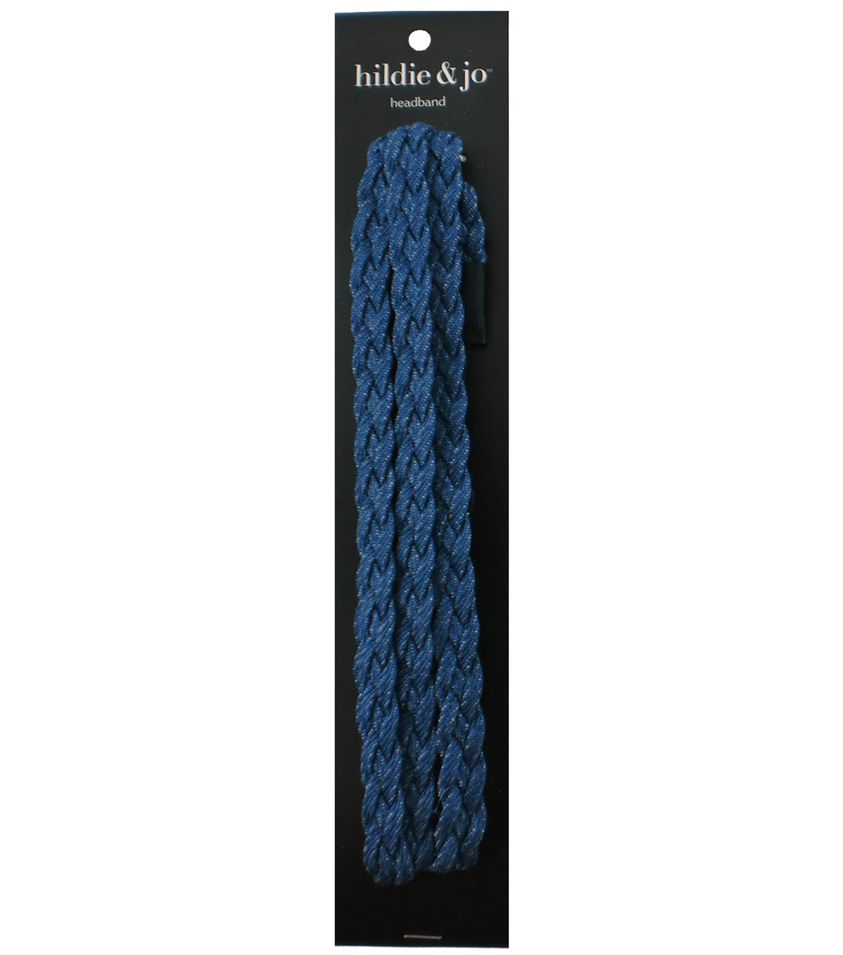 hildie & jo Triple Braided Headband-Blue