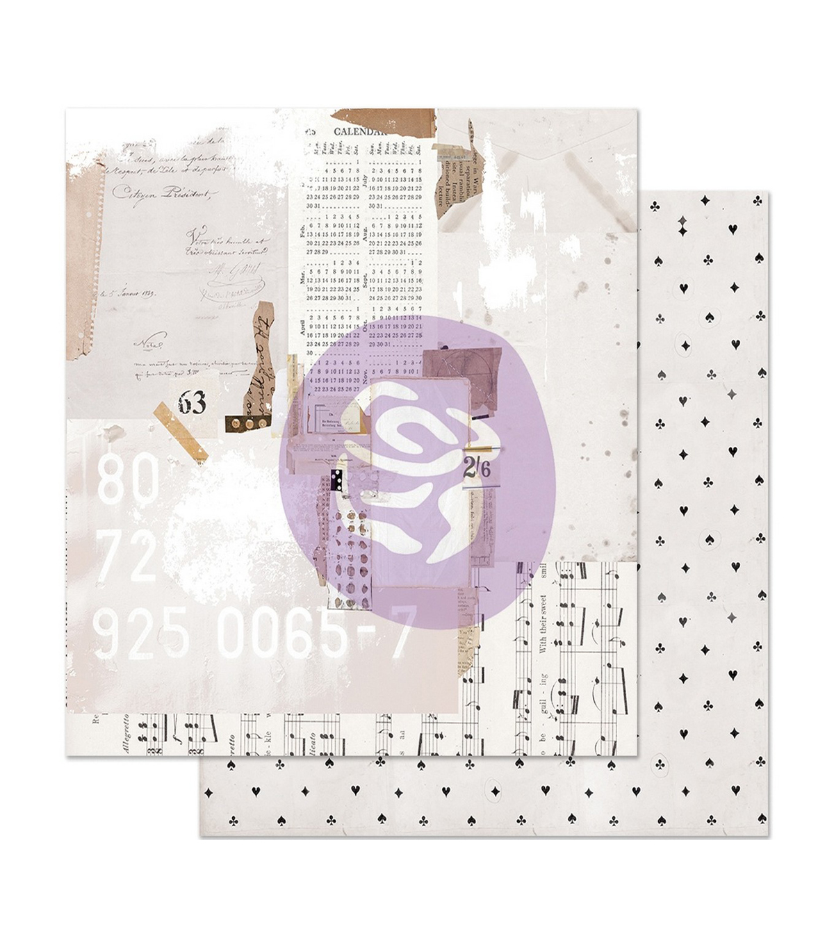 Pretty Pale Foiled Double-Sided Cardstock 12\u0022X12\u0022-Recounting The Days