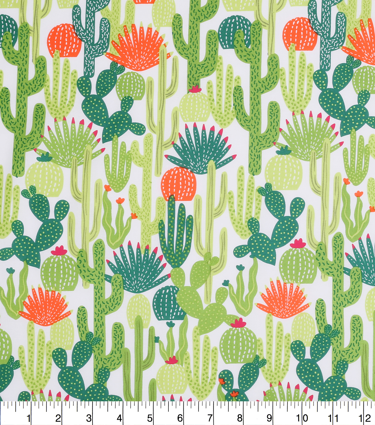 Novelty Cotton Fabric 43\u0022-Cactus