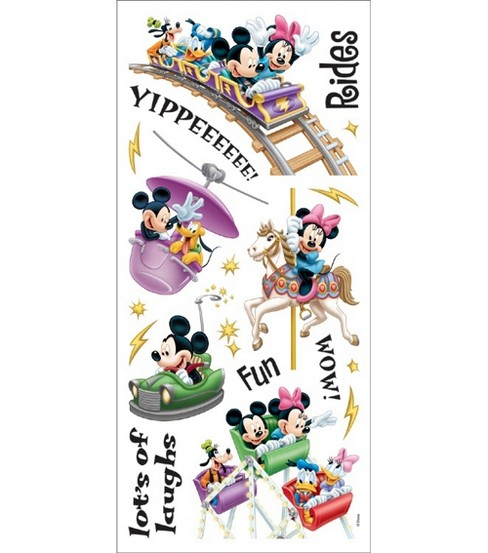 Sandylion Disney Stickers/Borders-Amusement Park Rides