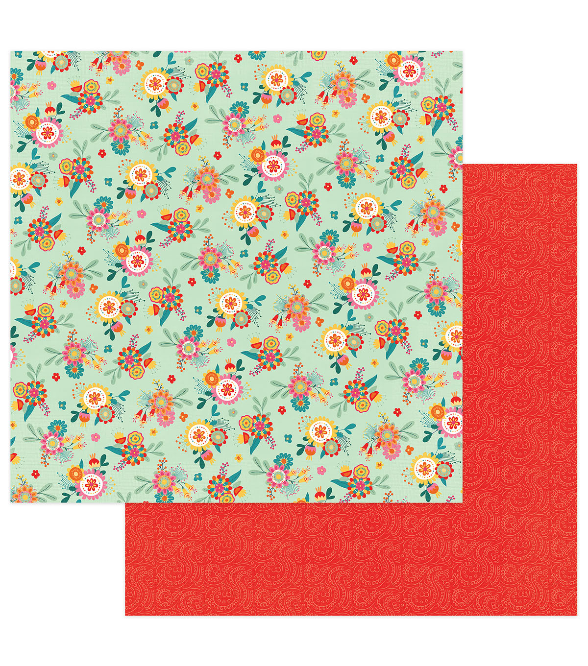 Photoplay Paper Paprika 12\u0027\u0027x12\u0027\u0027 Double-Sided Cardstock-Patchouli