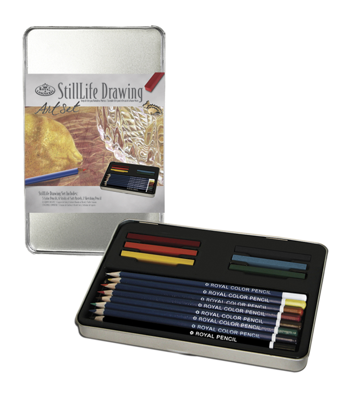 Royal Brush Still Life Drawing Art Set with Tin