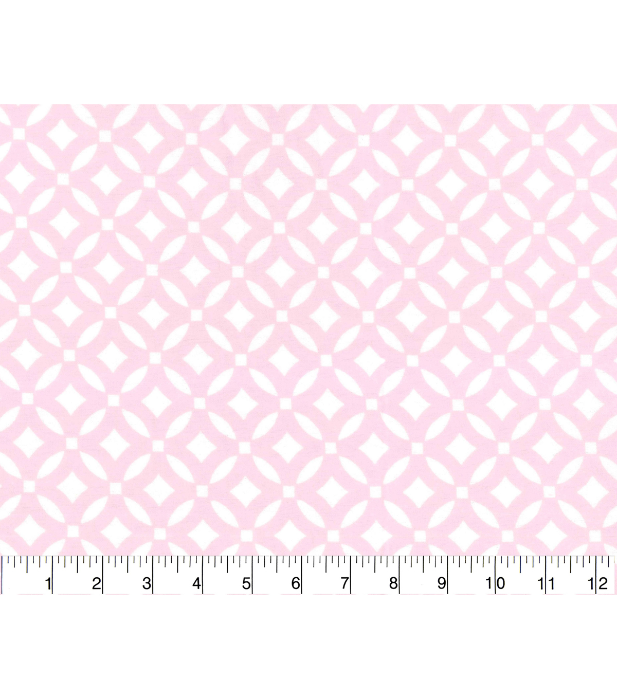 Nursery Flannel Fabric -Pink Ringlets