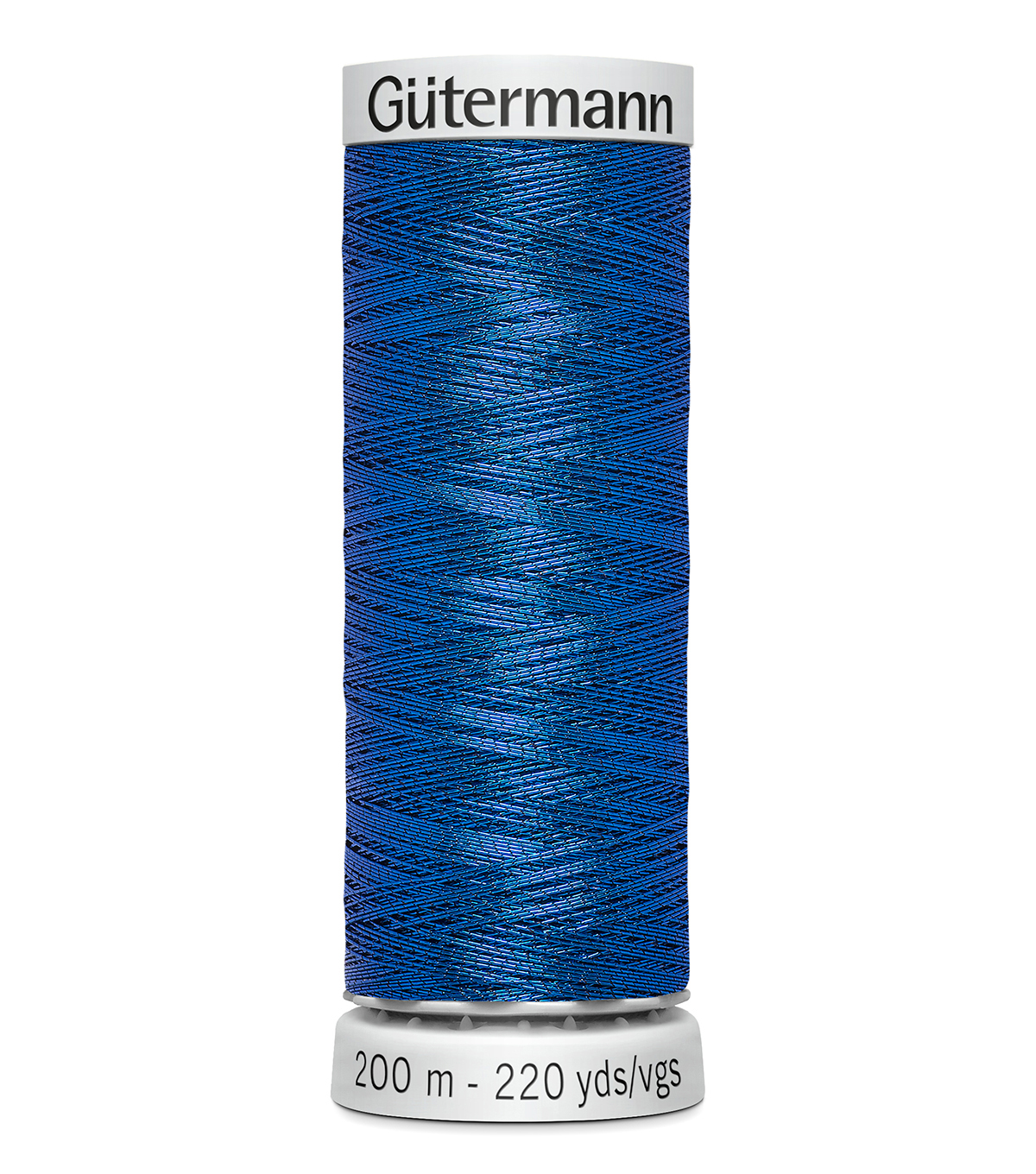 Gutermann 200M Dekor Thread, 200m Dekor Metallic-royal Blue