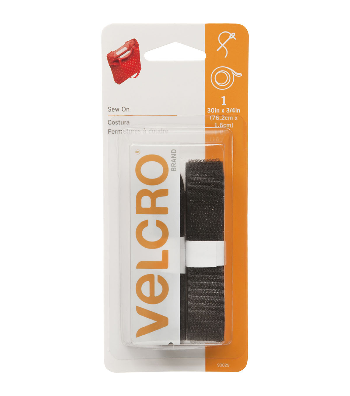 VELCRO Brand 0.75\u0027\u0027 x 30\u0027\u0027 Sew-On Tape