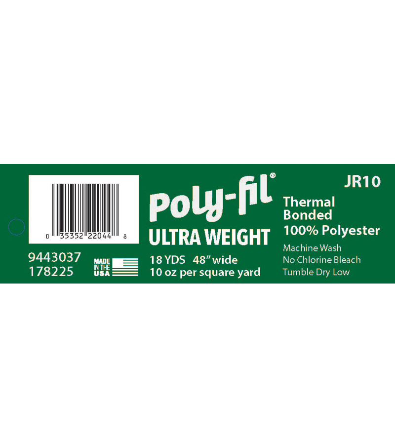 Fairfield Ultra-Weight Bonded 100% Polyester Batting 10oz. 48\u0022