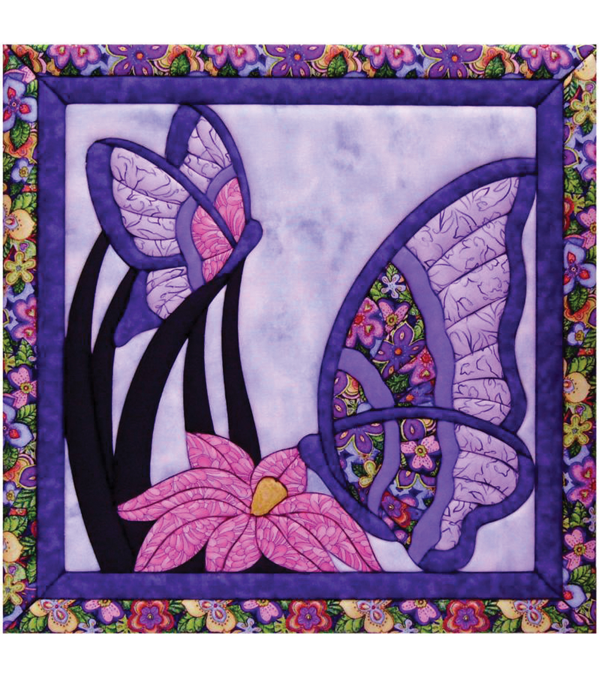 Butterfly Quilt Magic Kit-15-1/2\u0022X15-1/2\u0022