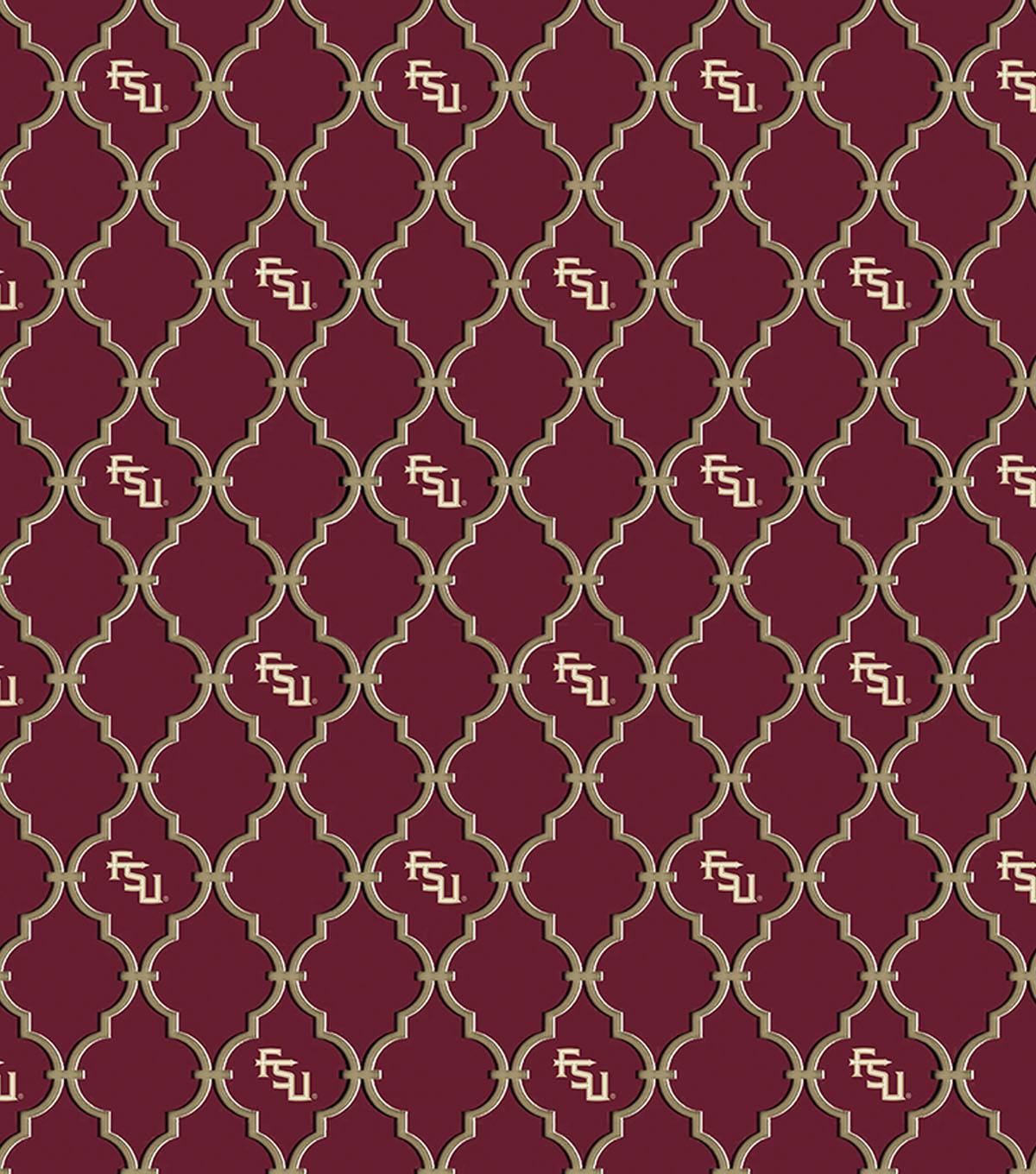College Teams Florida State Seminoles Cotton Fabric -Trellis