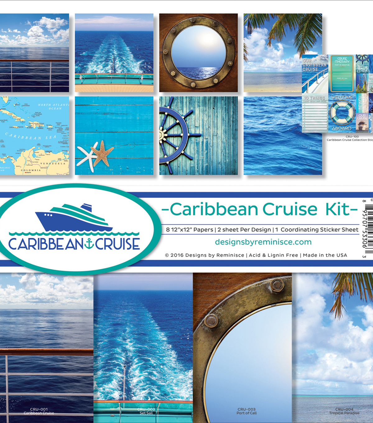 Reminisce Collection Kit 12\u0022X12\u0022-Caribbean Cruise