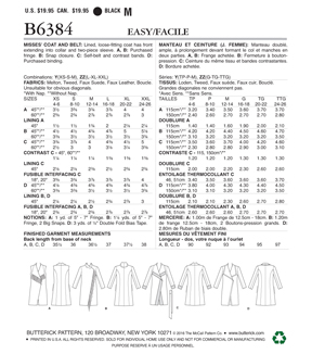 Butterick Pattern B6384 Misses\u0027 Shawl Collar Coat & Vest-Size 4-14