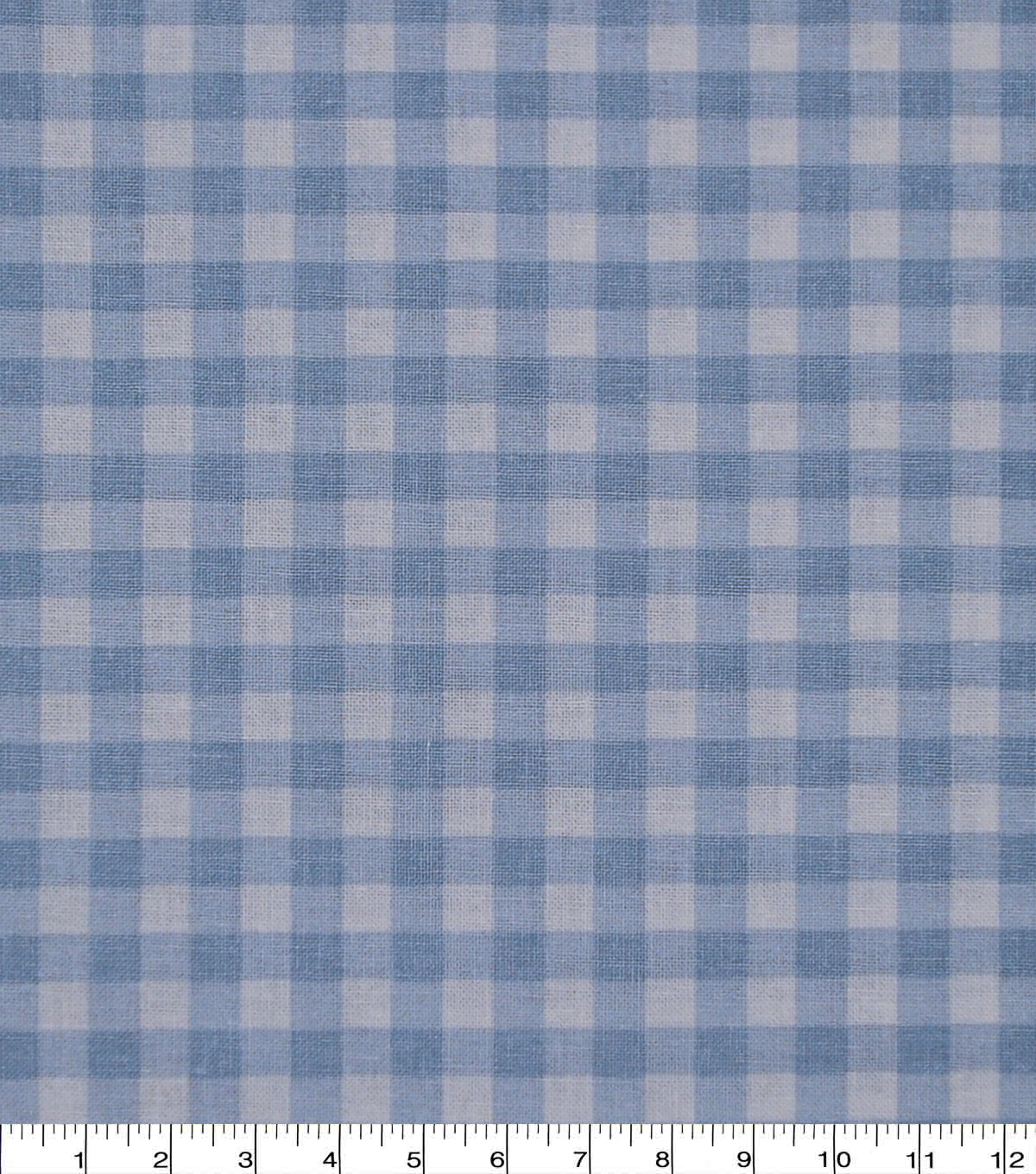 Wide Cotton Fabric-Light Blue Gingham
