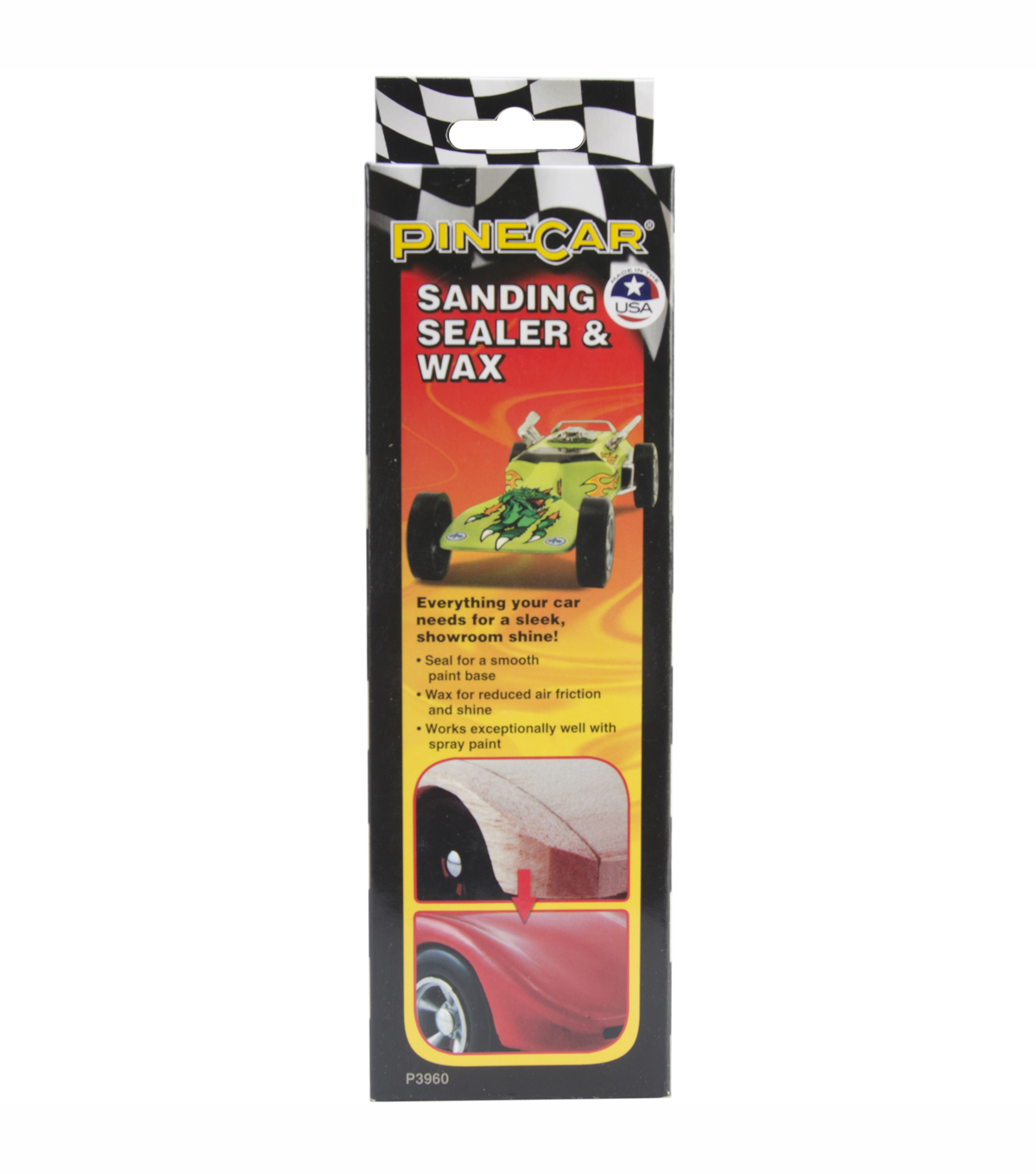 Pinewood Derby Car Sanding Sealer And Wax