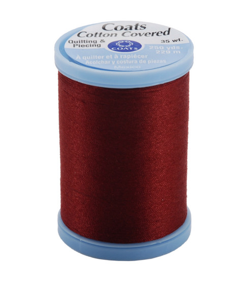 Coats & Clark Cotton Covered Quilting & Piecing Thread 250 Yards , 2820 Barberry Red