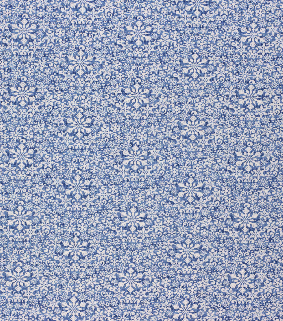 Christmas Cotton Fabric-Twinkle Snowflake On Blue