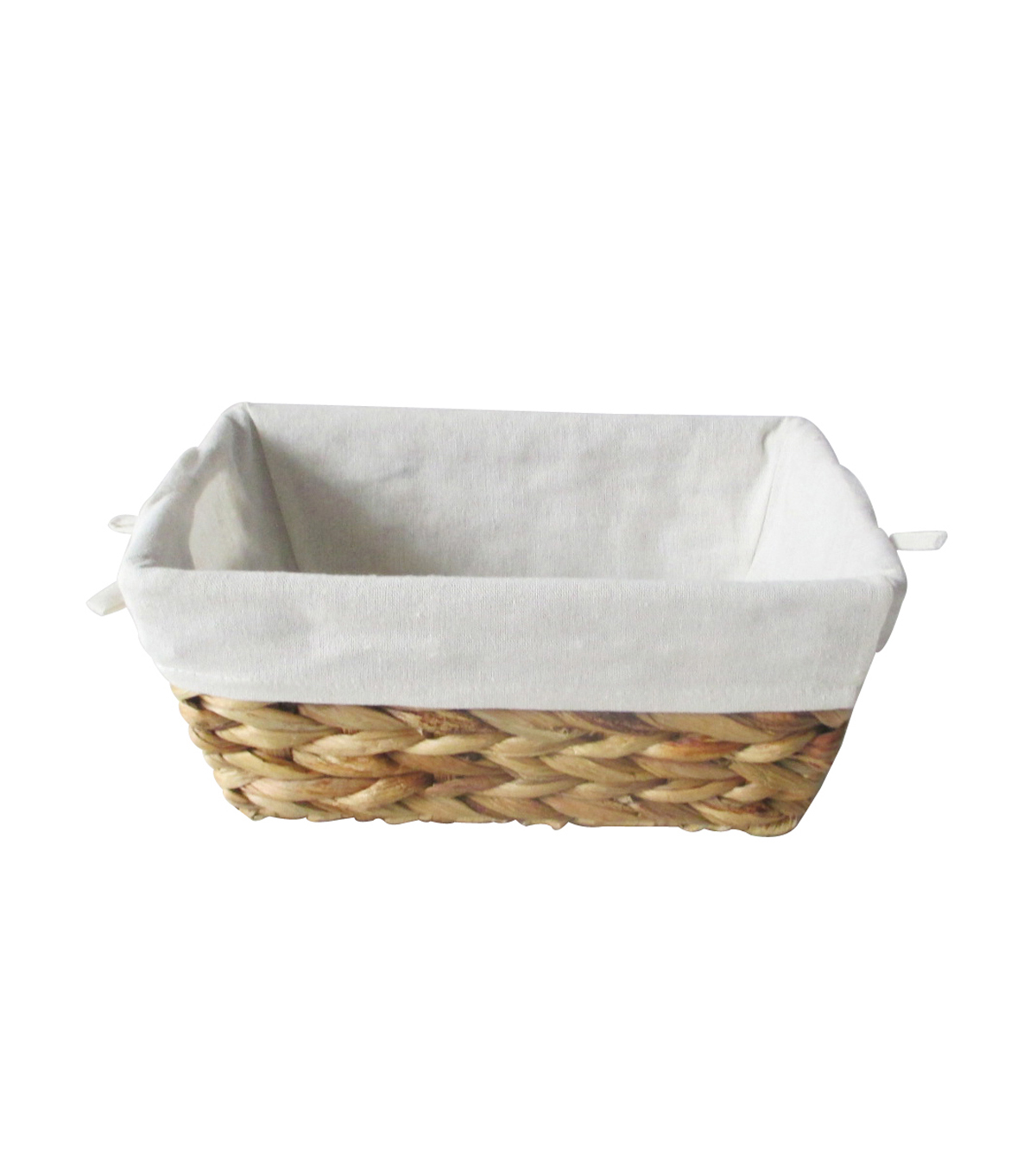 Organizing Essentials Medium Water Hyacinth Lined Basket