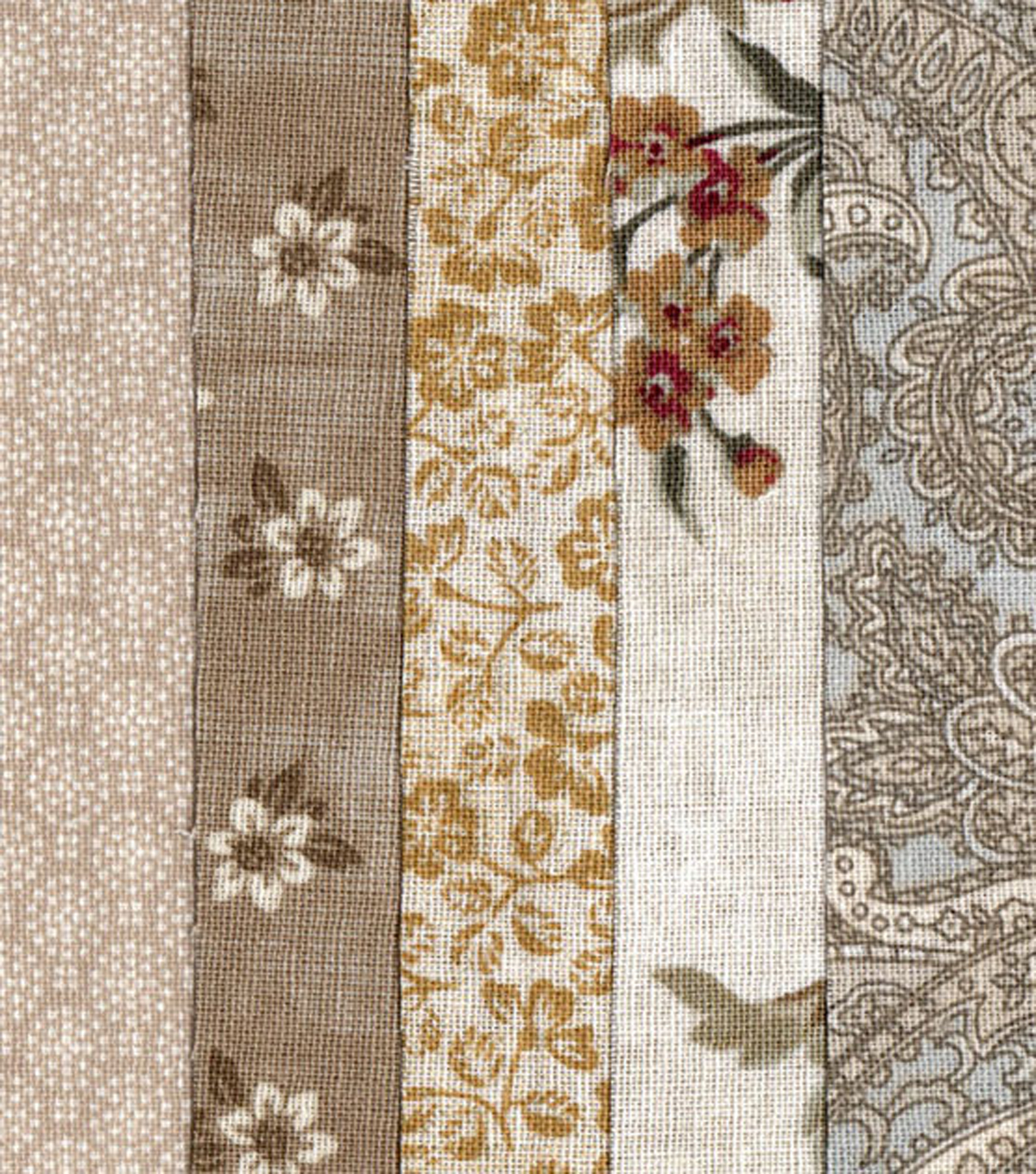 Jelly Roll Cotton Fabric Pack 2.5\u0027\u0027x42\u0027\u0027-Cream
