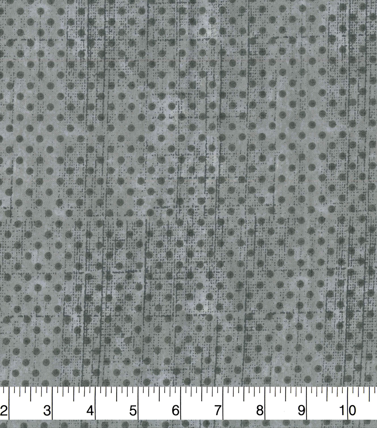 Wide Flannel Fabric 108\u0022-Gray Dot