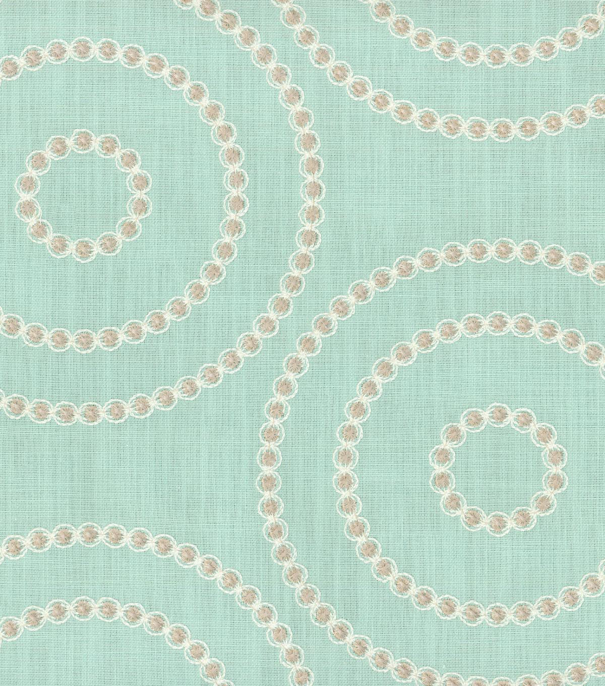 Waverly Lightweight Decor Fabric 54\u0022-Sherborne Emb/Opal