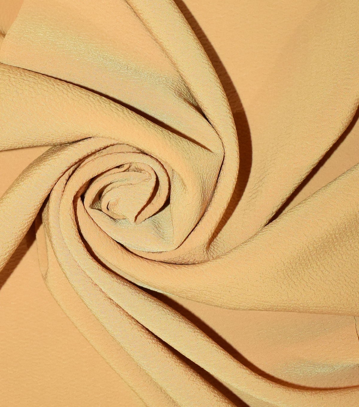 Silky Solids Textured Polyester Crepe Fabric-Solids, Mineral Yellow